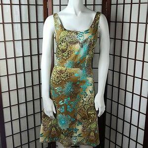 B. SMART Paisley Floral A Line Dress